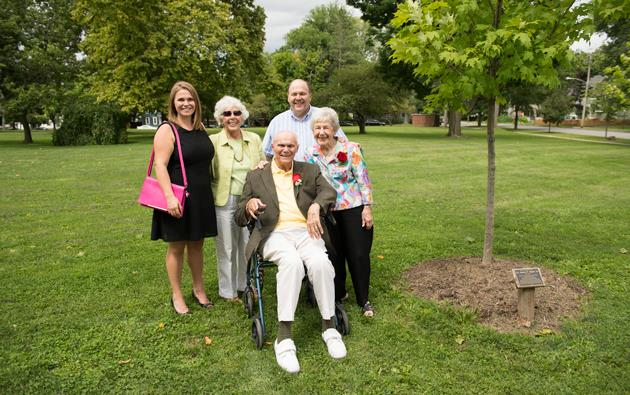Virgilio Honored With Tree Planting